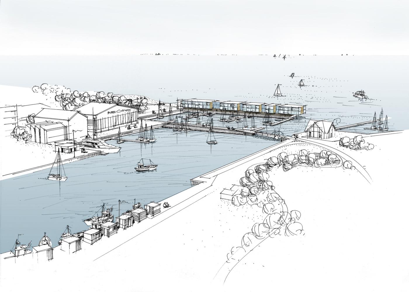 Wettbewerb Visualisierung Hafenbebauung Niendorf