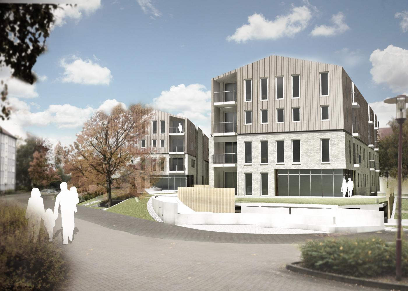 Wettbewerb Visualisierung Wohnungsbau Kark Krull Straße Greifswald
