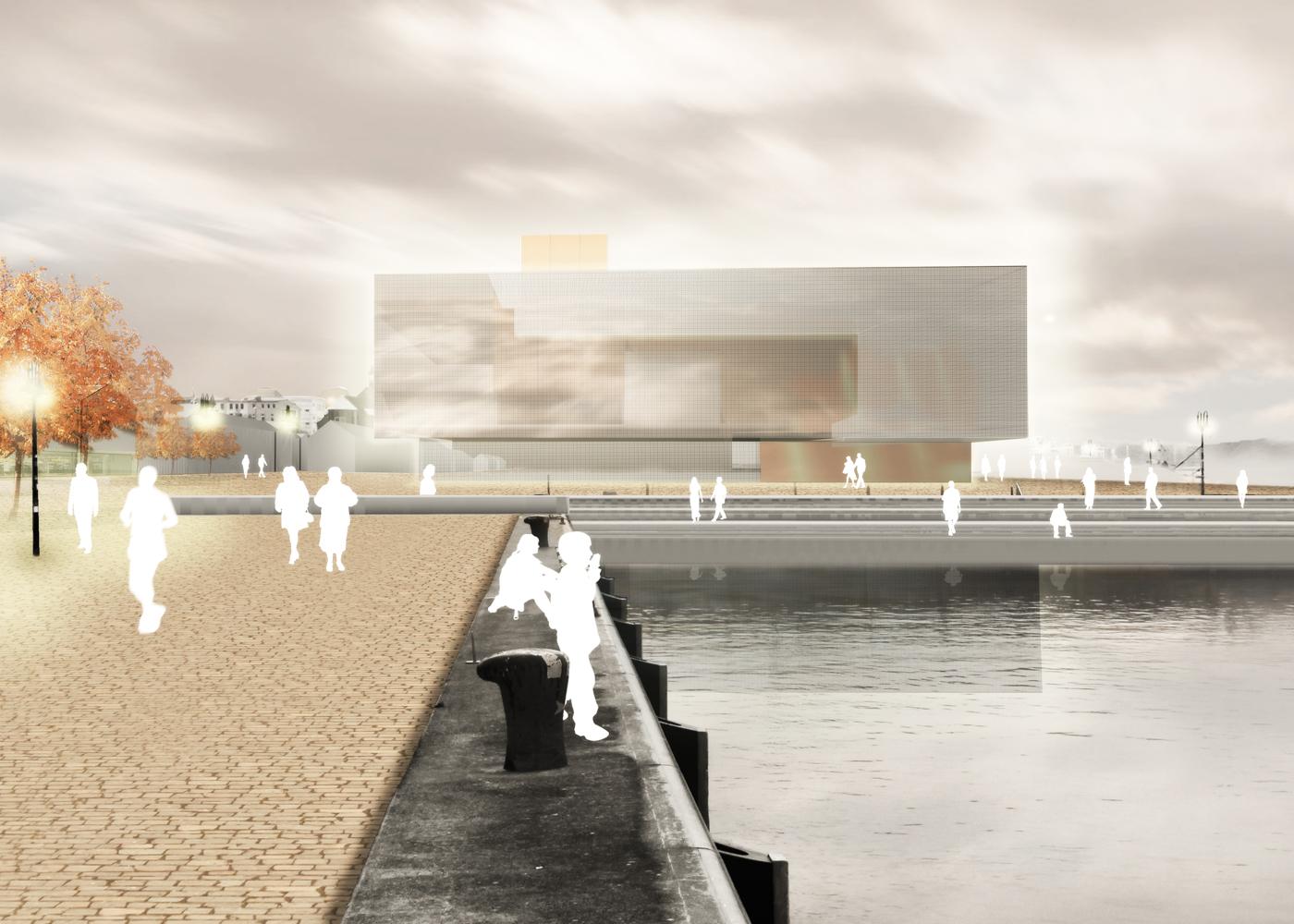 Visualisierung Wettbewerb Stadtzentrum Rostock Areal Bussebart Stadthafen