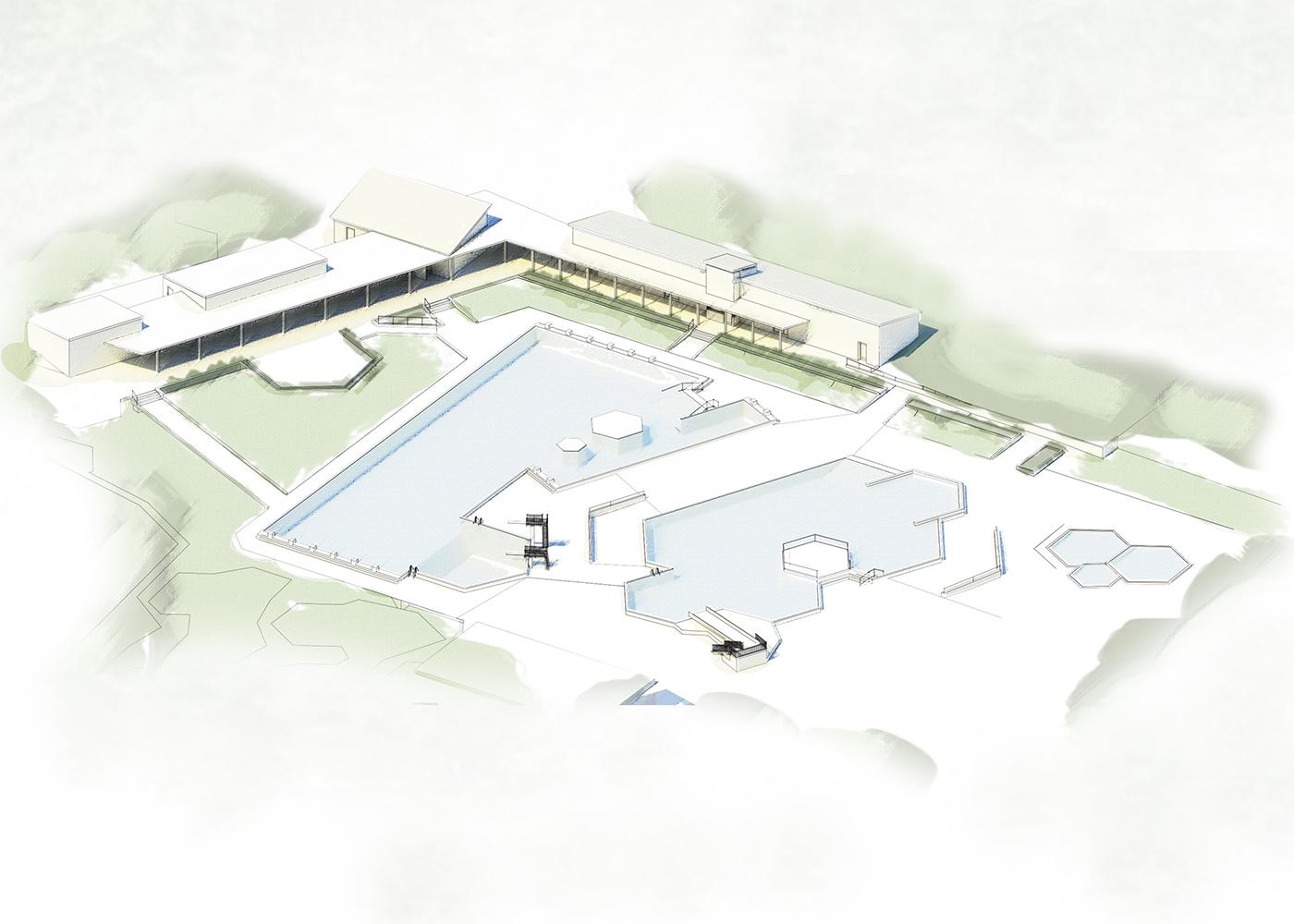 Wettbewerb Visualisierung Freibad Hohenwestedt