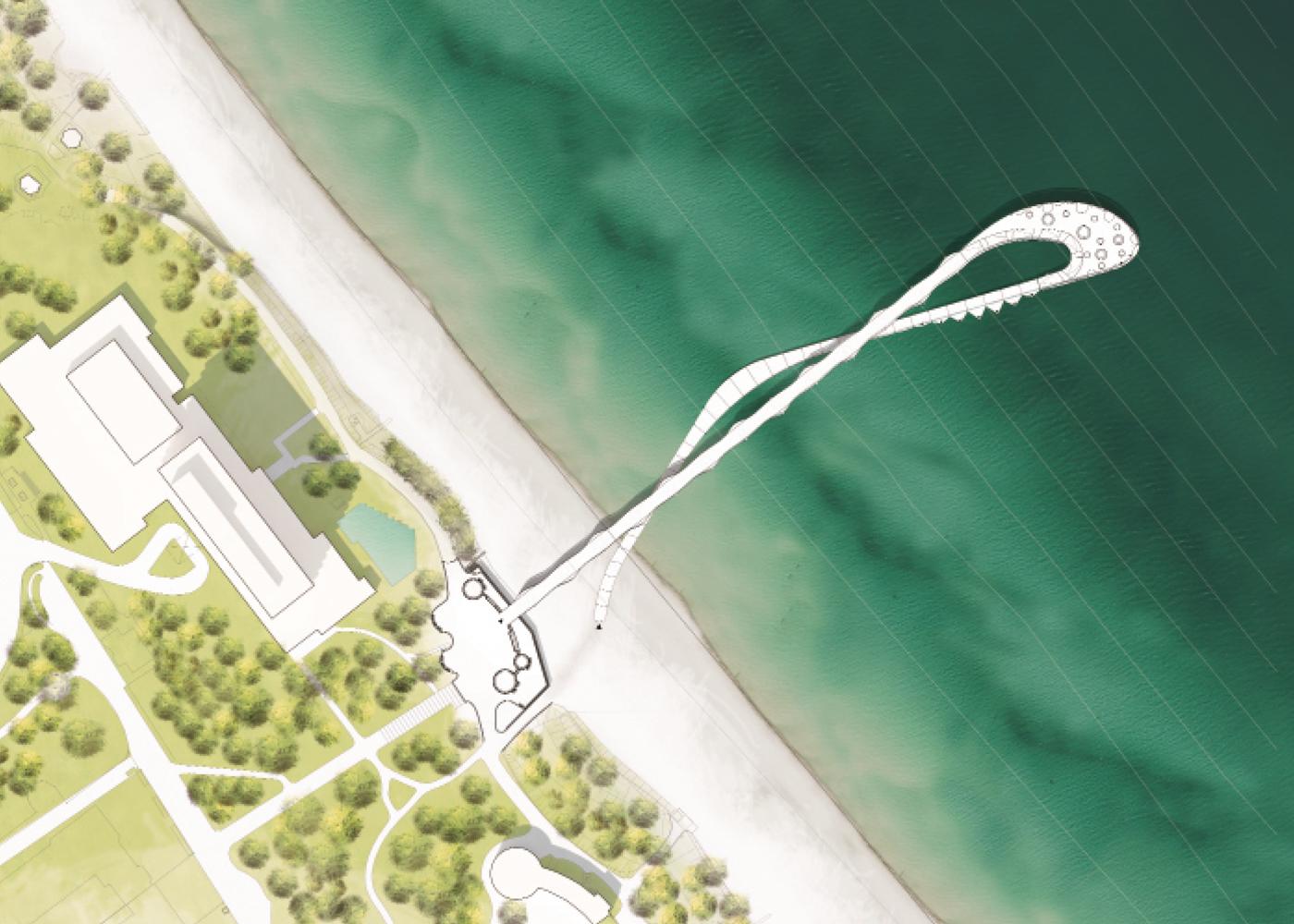 Visualisierung Wettbewerb Maritim Seebrücke
