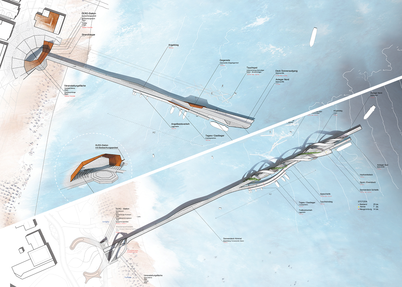 Wettbewerb Visualisierung Seebrücken Haffkrug und Scharbeutz