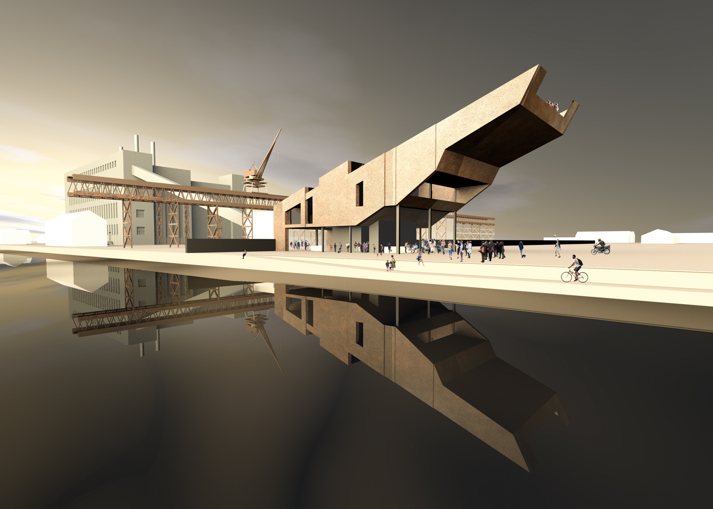 Visualisierung Wettbewerb Haus des Gastes in Peenemünde