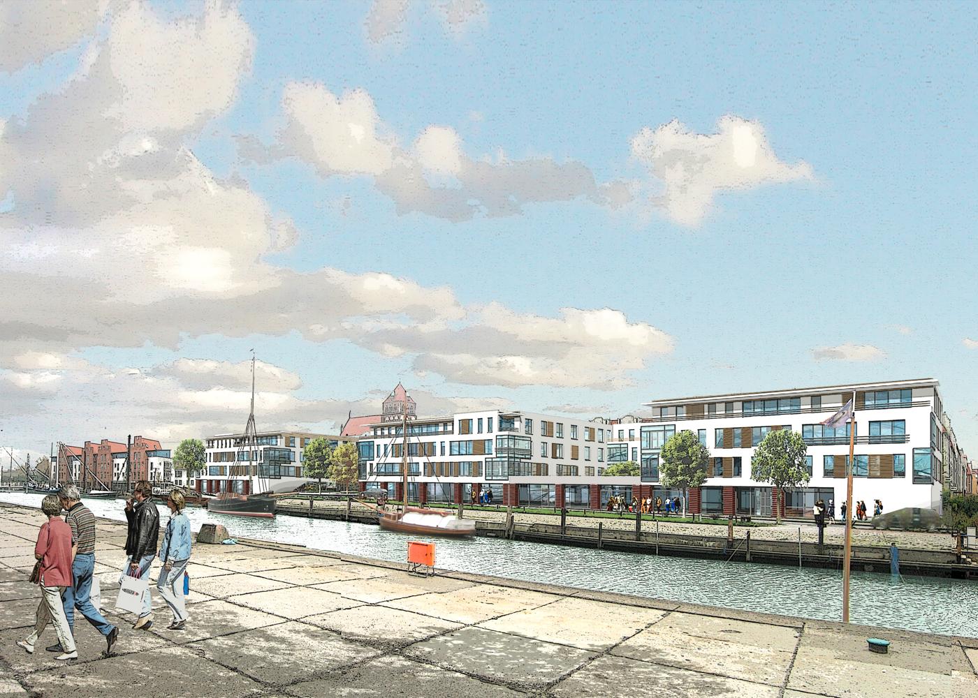 Visualisierung Wettbewerb WVG Hafenbebauung Greifswald
