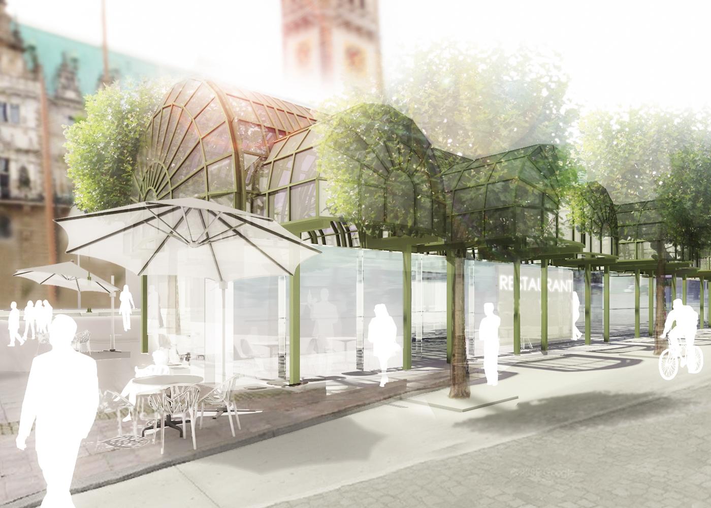 Wettbewerb Visualisierung Neubau einer Touristeninformation auf dem Rathausmarkt
