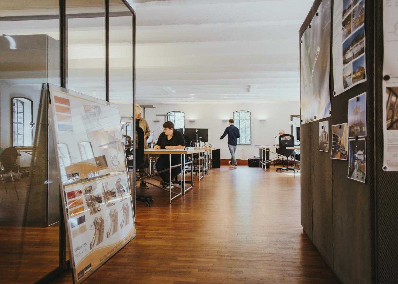 Einblick in das Architekturbüro von rimpf in der Hamburger Speicherstadt