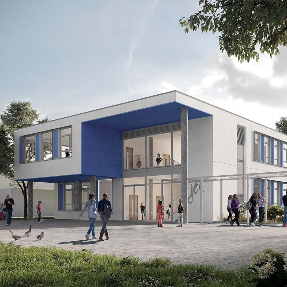 Visualisierung Neubau Johann-Comenius-Schule in Pinneberg